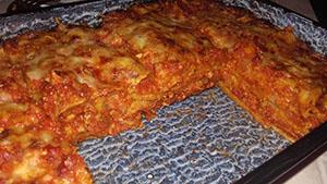 Teljeskiőrlésű tésztás lasagne