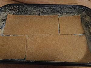 Lasagne tészta téglalapok